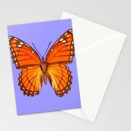 LILAC PURPLE MONARCH BUTTERFLY PATTERN Stationery Cards