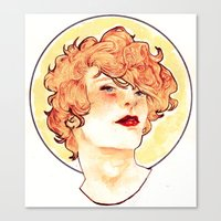 enjolras Canvas Prints featuring Enjolras by chazstity