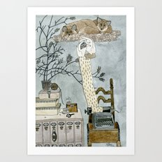 I saw typewriter in a dream Art Print