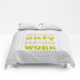 Work Before Success - Mark Twain Quote Comforters