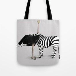 La zebra dal collo di struzzo Tote Bag