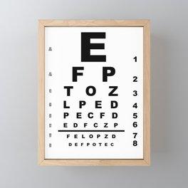 Eye Test Chart Framed Mini Art Print