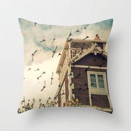 Strange House Throw Pillow