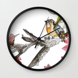 Birds of a Feather 2 Wall Clock