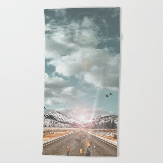 THE PURSUIT OF THE RED FREEDOM Beach Towel