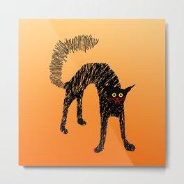 Black Cat 01 Metal Print