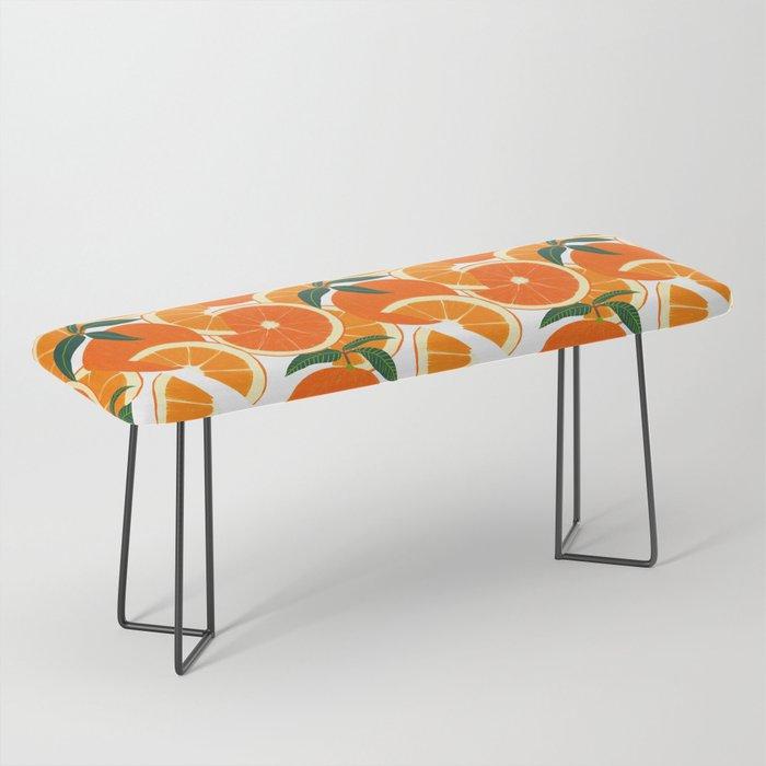 Orange Harvest - White Bench
