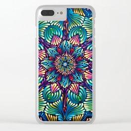 Kaleidoscopic Mandala Clear iPhone Case