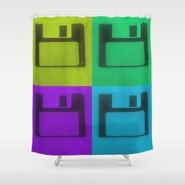 Floppy Disk Pop Art Number 2 Shower Curtain