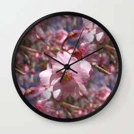 Perfect - Pink Cherry Blossom Wall Clock