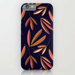 Navy Ash Repeated  iPhone Case