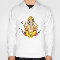 ganesha Hoodies featuring Ganesha by O. Be