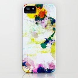 Abstract Paint Splatter Art iPhone Case