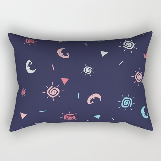 Seamless sun and moon pattern ver 2 Rectangular Pillow
