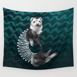 Ferret Slinky Wall Tapestry