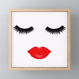 Lips and Lashes Framed Mini Art Print