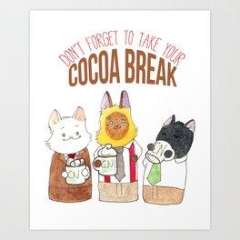 Cocoa Break Art Print