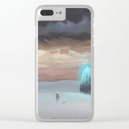 Ancient Obelisk Clear iPhone Case