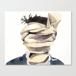 Scarf Face Canvas Print