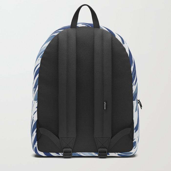 Boho Blue Brushstroke Backpack
