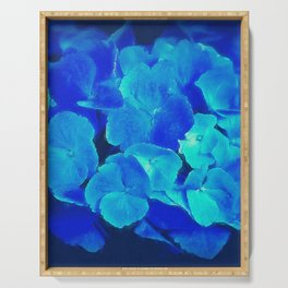 Blue Hydrangea Serving Tray