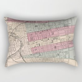 Vintage Map of Columbus Ohio (1868) Rectangular Pillow