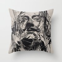 salvador dali Throw Pillows featuring Dali by nicebleed