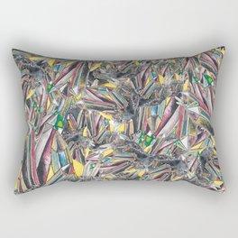 Rainbow Metallic Crystals Rectangular Pillow