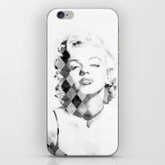 Marilyn Monroe Black and White Checkered iPhone & iPod Skin