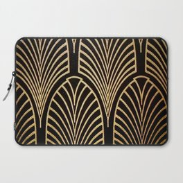 Art nouveau Black,bronze,gold,art deco,vintage,elegant,chic,belle époque Laptop Sleeve