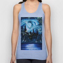 Starry Night Hogwarts Unisex Tank Top