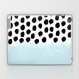 Lolita - Modern mint dots abstract painting minimal design trendy hipster decor dorm office retail  Laptop & iPad Skin