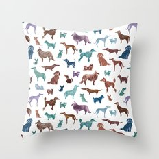 Doggies all over Throw Pillow