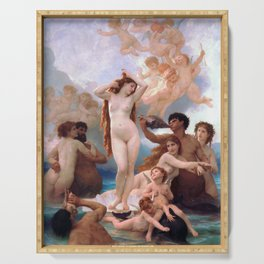 The Birth of Venus by William Adolphe Bouguereau Serving Tray