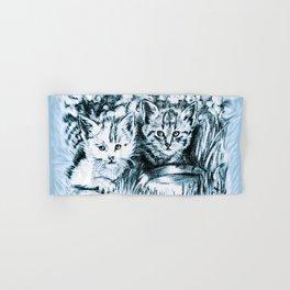 Blue Baby Cats Hand & Bath Towel