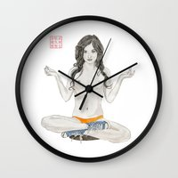 converse Wall Clocks featuring Converse Buddha by Bryan James