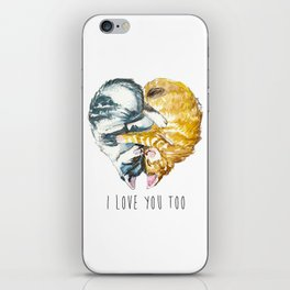 Cats Love . Valentine's Day iPhone Skin