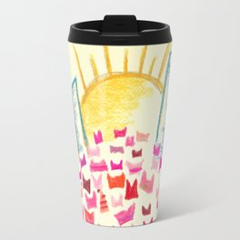 Pink Hats March for Equality Travel Mug