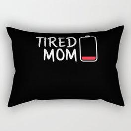 TIRED MOM (BLACK) Rectangular Pillow