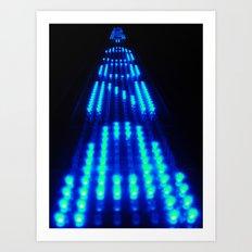 Enter the Void Blue Art Print