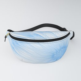 Blue White Flower | Abstract digital painting, cute floral pattern, pretty pastel flowers Fanny Pack