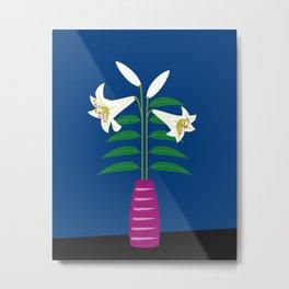 Lily In A Vase Metal Print