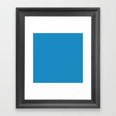 #188Bc2 Cornflower Blue Framed Art Print