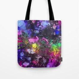 Unicorn Blood Alcohol Ink and Reactive Foil Tote Bag
