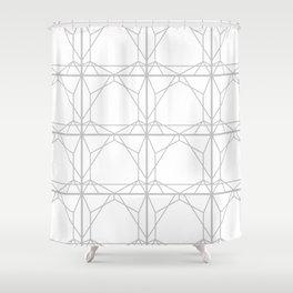 Grey Web 2 Shower Curtain