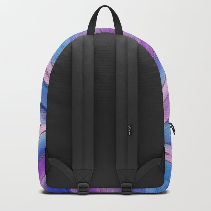 AGATE Inspired Watercolor Abstract 06 Backpack
