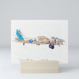 Sentimental Journey Profile watercolor by Ahmet Asar Mini Art Print