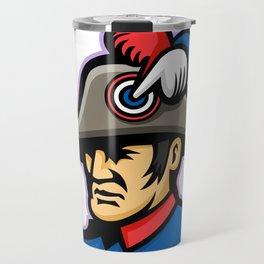 Emperor Head Mascot Travel Mug