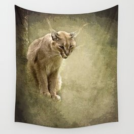 Caracal- wild cat Wall Tapestry