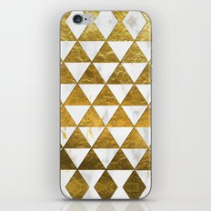 Marble and Gold Pattern #3 iPhone Skin